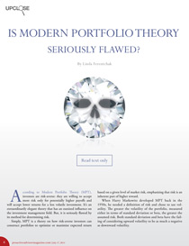 Is modern portfolio theory seriously flawed